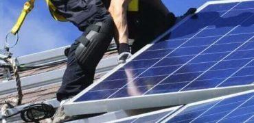 solar panel installation rooftop